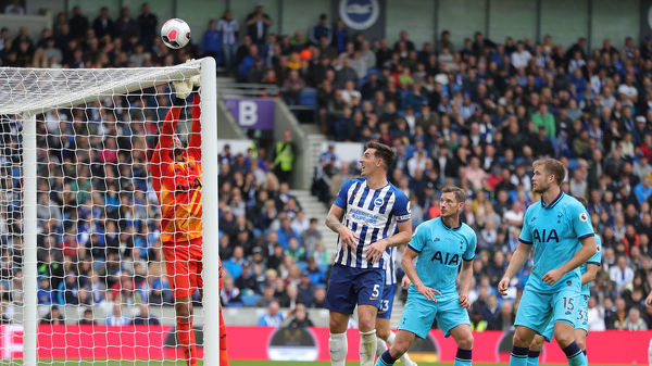 Match action during the Premier League match between Brighton and Hove Albion and Tottenham Hotspur at the American Express Community Stadium on the 5th October 2019