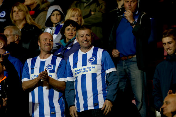 Albion fans during the SkyBet Championship match between Bournemouth and Brighton and Hove Albion at the Goldsands Stadium, 1st November 2014