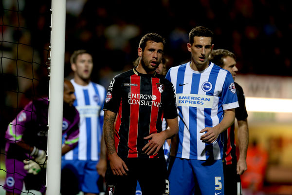 Lewis Dunk during the SkyBet Championship match between Bournemouth and Brighton and Hove Albion at the Goldsands Stadium, 1st November 2014