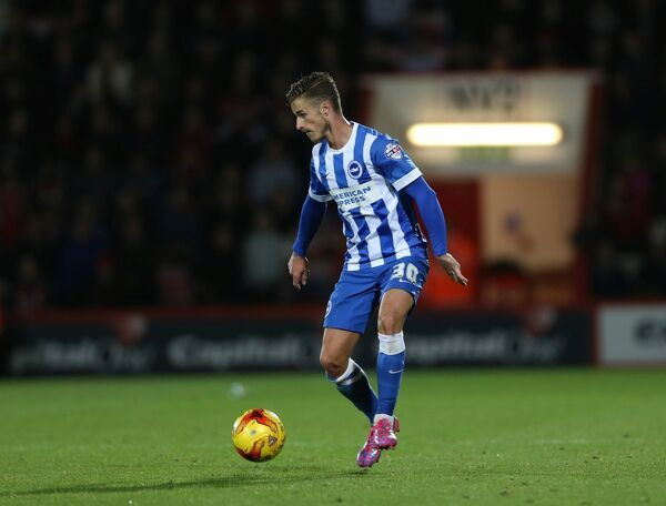 Joe Bennett during the SkyBet Championship match between Bournemouth and Brighton and Hove Albion at the Goldsands Stadium, 1st November 2014