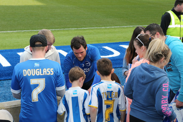 Seagulls Priority open training day at the American Express Community Stadium, Brighton and Hove, England on 8th April 2015