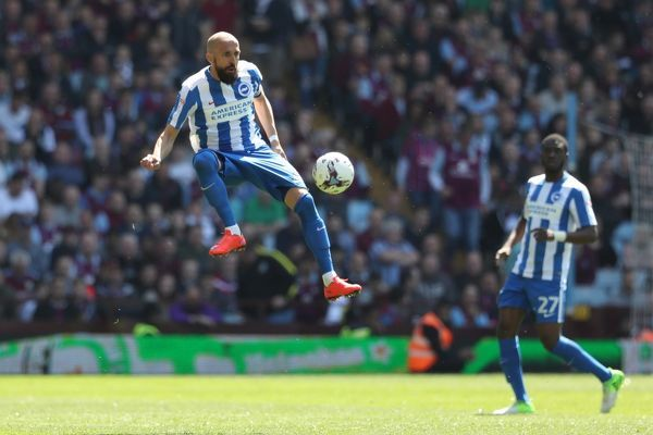Match action during the EFL Sky Bet Championship game between Aston Villa and Brighton and Hove Albion at Villa Park Stadium, Birmingham, on the 7th May 2017