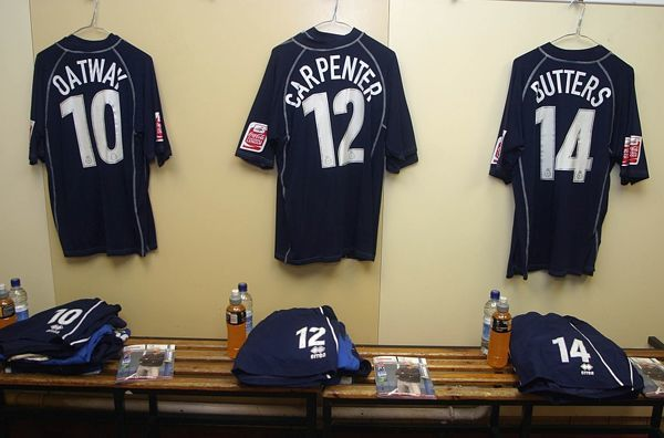 Away dressing room at Sheffield United 2004-05