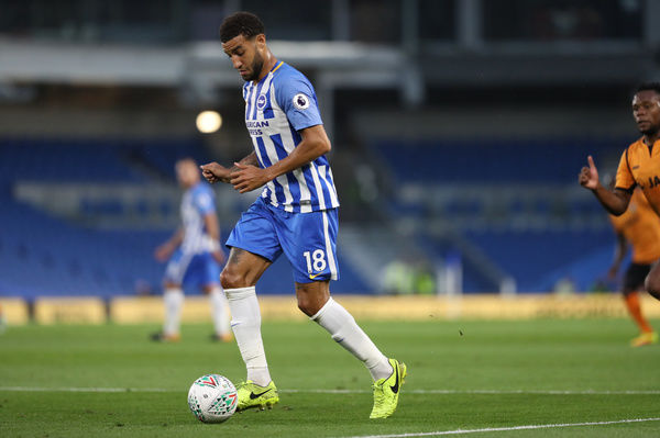 Match action during the EFL Cup match between Brighton and Hove Albion and Barnet at the American Express Community Stadium, Brighton on the 22nd August 2017