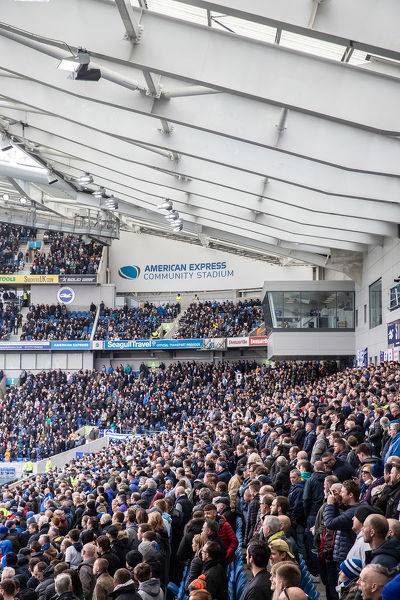 Match action during the Premier League match between Brighton and Hove Albion and Bournemouth at the American Express Community Stadium, Falmer, Brighton on the 13th April 2019