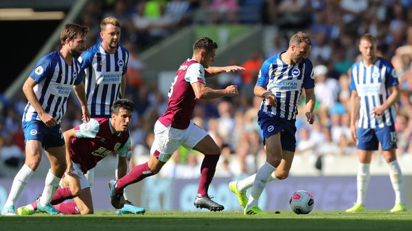 Match action during the Premier League match between Brighton and Hove Albion and Burnley at the American Express Community Stadium on the 10th September 2019