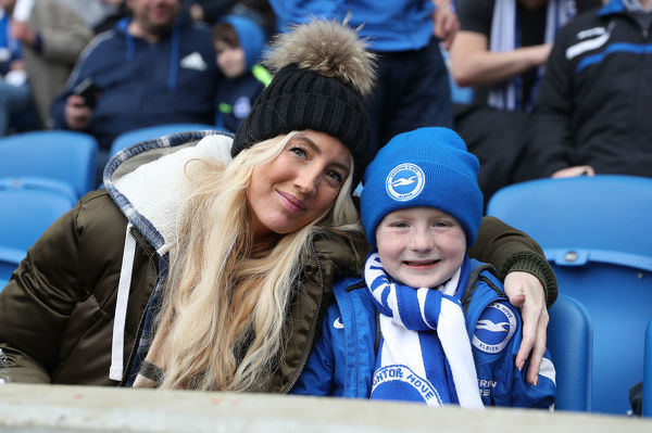 Match action during the Premier League match between Brighton and Hove Albion and Huddersfield Town at the American Express Community Stadium, Brighton on the 7th April 2018