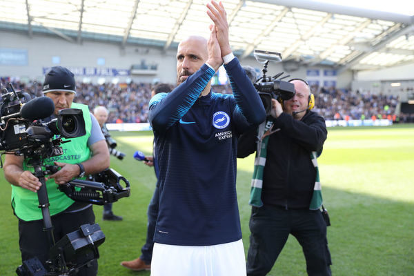 Lap of appreciation during the Premier League match between Brighton and Hove Albion and Manchester City at the American Express Community Stadium, Falmer, Brighton on the 12th May 2019