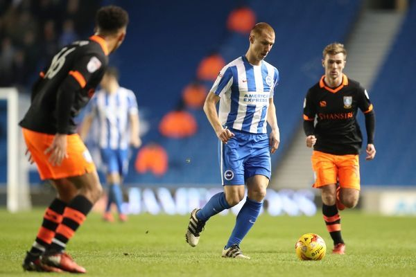 Match action during the EFL Sky Bet Championship game between Brighton and Hove Albion and Sheffield Wednesday at the American Express Community Stadium, Falmer on the 20th January 2017