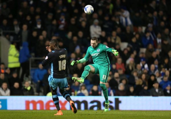 Match action during the Sky Bet Championship match between Brighton and Hove Albion and Sheffield Wednesday at the American Express Community Stadium, Lewes, Falmer, England on 8th March 2016
