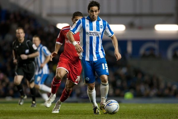 Vicente during Brighton & Hove Albion v Reading, nPower Championship, Amex Stadium, Brighton, Tues 10th April 2012
