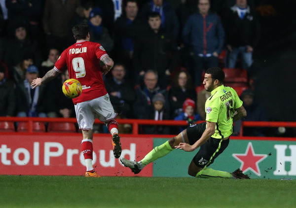 Match action during the Sky Bet Championship match between Bristol City and Brighton and Hove Albion at Ashton Gate Stadium, Cardiffl, Wales on 23 February 2016