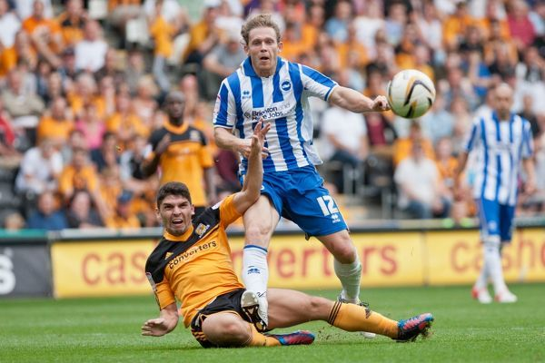 during Hull City v Brighton & Hove Albion, KC Stadium, Hull, Npower Championship, Saturday 18th August 2012