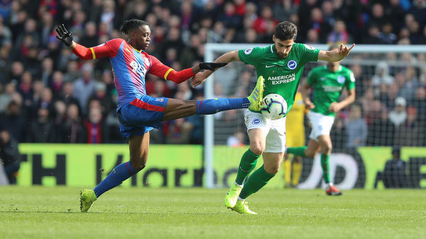 Match action during the Premier League match between Crystal Palace and Brighton and Hove Albion at Selhurst Park on the 9th March 2019., attacking, breaks away