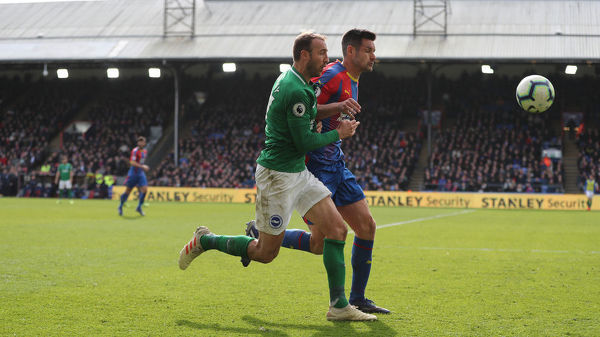 Match action during the Premier League match between Crystal Palace and Brighton and Hove Albion at Selhurst Park on the 9th March 2019