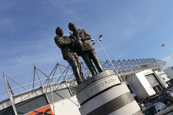 Nigel Clough and Peter Taylor statue during the Sky Bet Championship match between Derby County and Brighton and Hove Albion at the iPro Stadium, Derby, England on 6th December 2014