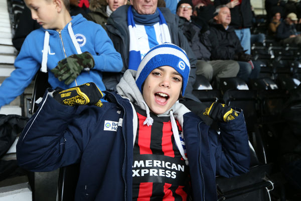 Albion fans during the Sky Bet Championship match between Derby County and Brighton and Hove Albion at the iPro Stadium, Derby, England on 6th December 2014