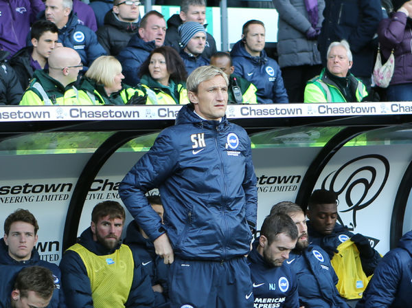 Sami Hyypia during the Sky Bet Championship match between Derby County and Brighton and Hove Albion at the iPro Stadium, Derby, England on 6th December 2014
