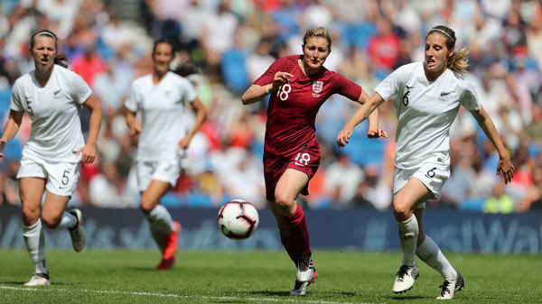 Match action during the FIFA World Cup Warm Up Match between England Women and New Zealand Women at the American Express Community Stadium, Falmer, Brighton on the 1st June 2019