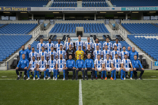 American Express Community Stadium, Official Team Photograph, PhotoCall, photocall, photo call, team picture, season 2018_19