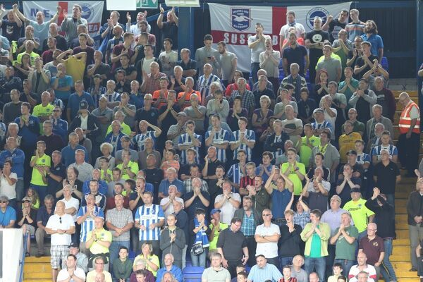 Albion fans during the Sky Bet Championship match between Ipswich Town and Brighton and Hove Albion at the Portman Road, Ipswich, England on 28th August 2015