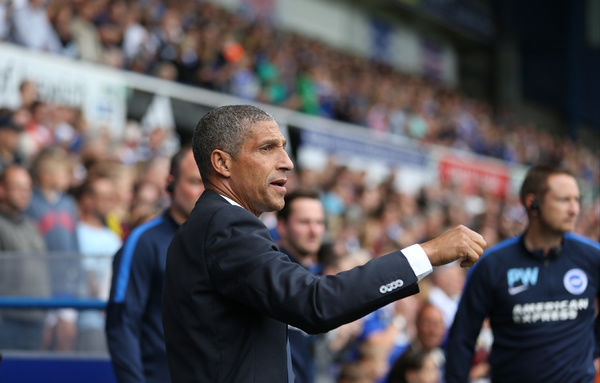 Chris Hughton during the Sky Bet Championship match between Ipswich Town and Brighton and Hove Albion at the Portman Road, Ipswich, England on 28th August 2015