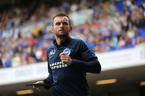 Nathan Jones during the Sky Bet Championship match between Ipswich Town and Brighton and Hove Albion at the Portman Road, Ipswich, England on 28th August 2015