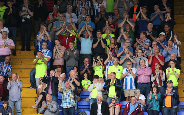 *** during the Sky Bet Championship match between Ipswich Town and Brighton and Hove Albion at the Portman Road, Ipswich, England on 28th August 2015