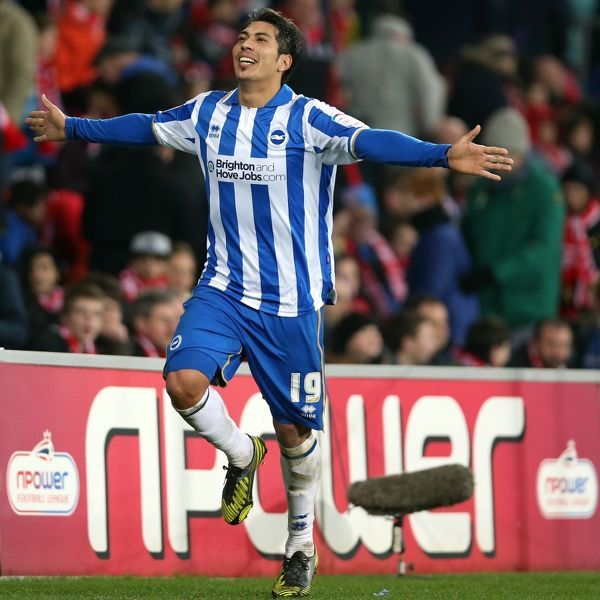 Leonardo Ulloa scores late to make it 2-0 to Brighton during Cardiff City
