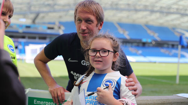 Open Training Session event at the American Express Community Stadium, Falmer, Brighton, season 2019/20