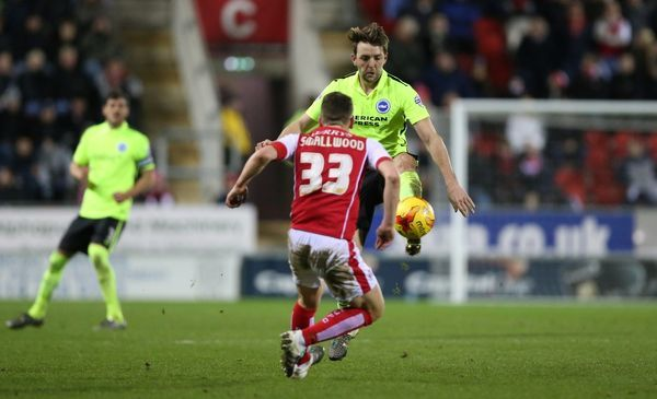 Match action during the Sky Bet Championship match between Rotherham United and Brighton and Hove Albion at the New York Stadium, Rotherham, England on 12 January 2016