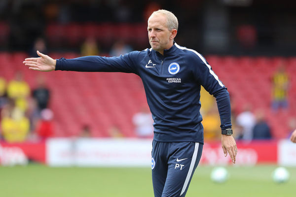 Brighton and Hove Albion assistant manager Paul Trollope. Match action during the Premier League match between Watford and Brighton and Hove Albion at Vicarage Road, Watford on the 11th August 2018
