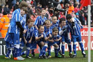 Brighton Mascots at Stoke City for the FA Cup 5th Round, Feb 2011.