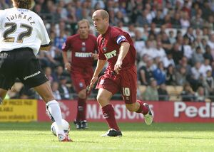 Charlie Oatway in action against Derby County (2005/06)