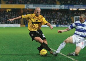 Charlie Oatway in action at Loftus Road 2003/04