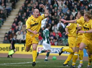 Charlie Oatway celebrates his goal against Plymouth Argyle (2004/05)