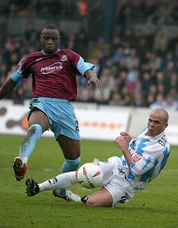 Charlie Oatway tackles Nigel Reo-Coker of West Ham (2004/05)