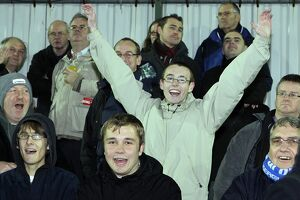 Fans at Woking - FA Cup 1st round replay November 2010