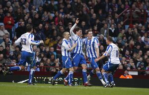 Tommy Elphick scores at Villa Park