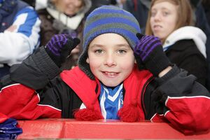 A young fan at Exeter City, January 2011