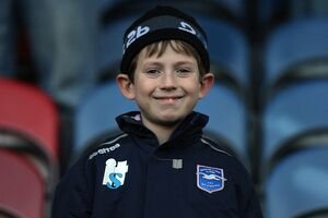 A young fan at Huddersfield Town, December 2010