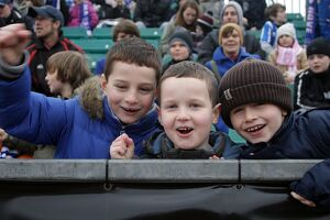 Young fans at Withdean Stadium v Peterborough Jan 2011