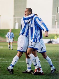 Zamora celebrates a goal against Portsmouth Blue/Yellow